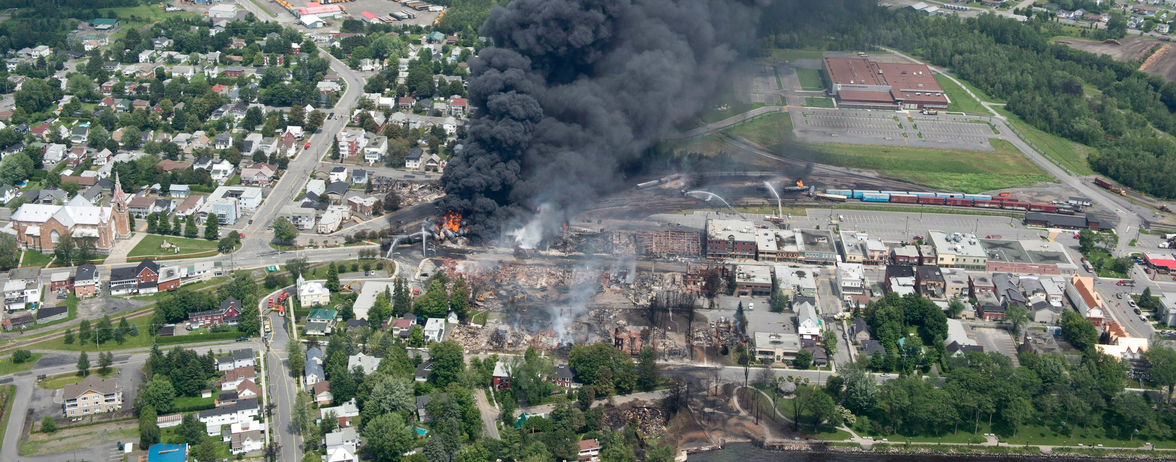 Lac Megantic disaster site
