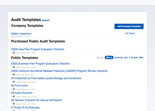 Easily customize audit templates and form on Nimonik's EHS&Quality App