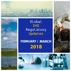 Global ehs regulatory updates
