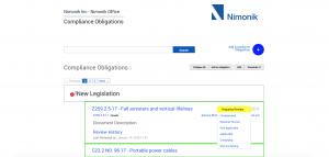Nimonik Compliance Obligations
