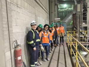 LafargeHolcim St Constant plant's EHS in charge, Karla Delorme (front) with the Nimonik team