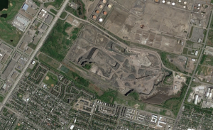 Overview of the geographical area sorrounding the Lafarge quarry in montreal
