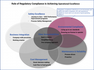 Role of regulatory compliance in operational excellence