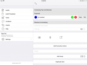Access Home page of the app as a side panel while auditing