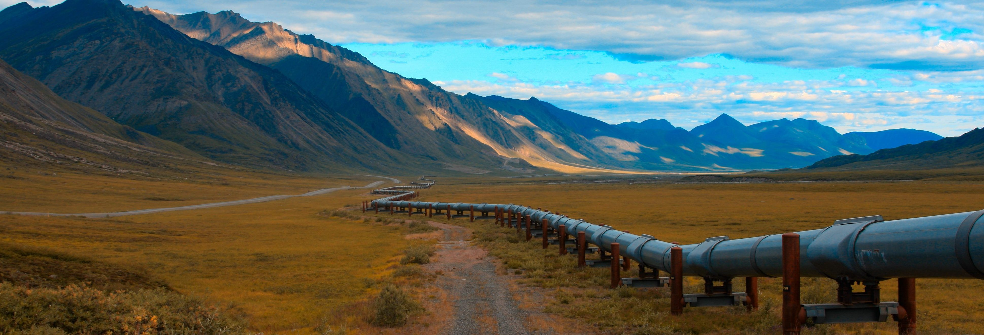 Oil Pipeline in remote north slope of alaska.
