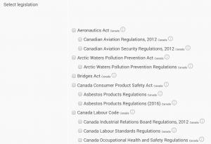 select legislation on nimonikapp