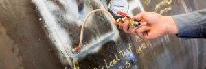 Pressure testing at reinforcement pad of lifting pad