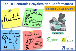 top 10 non-conformances by electronic recyclers
