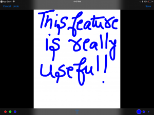 Write your notes. A stylus will be handy.